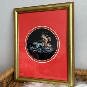 Vintage framed art by M. Cirillo
